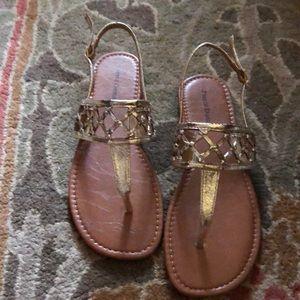 Pierre dumas Jean-3 sandals in Gold